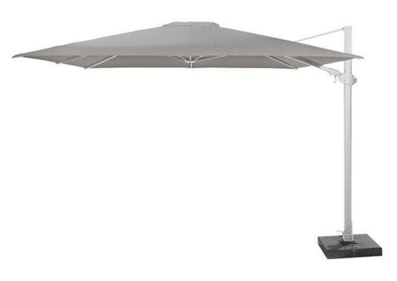 4 Seasons Outdoor | Zweefparasol Siesta Premium 300 x 300 cm | Wit-Mid Grey