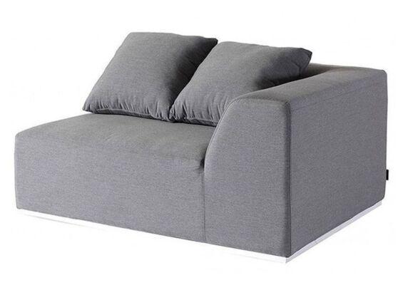 Fonteyn | Loungebank 2-zits Links Buddha | Grey Flanelle