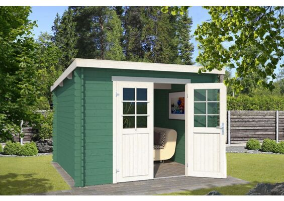 Outdoor Life Products | Tuinhuis Nadia 275 x 175 | Gecoat | Jungle Green-Wit
