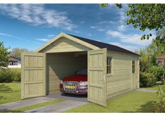 Outdoor Life Products | Garage Dillon 300 x 540 | Geïmpregneerd | Olijfgroen