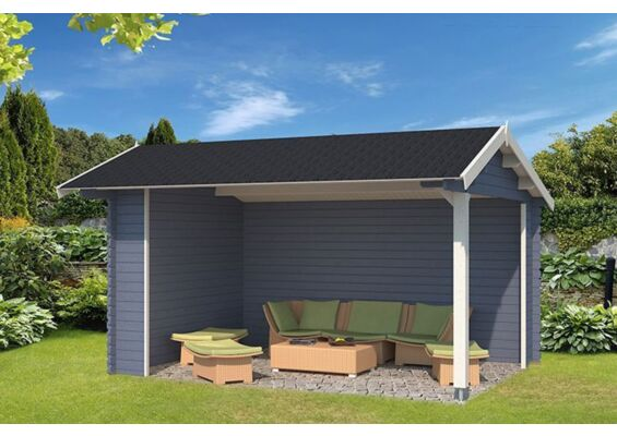 Outdoor Life Products | Tuinhuis Rosea Gecoat | Pigeon Blue