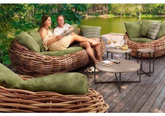 Cocoon Loungeset | Biculair Wicker | Apple Bee