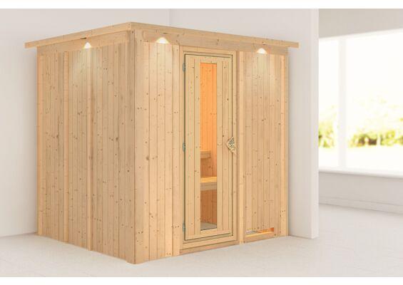 Karibu | Sauna Sodin met Dakkraag | Deur Energiesparend