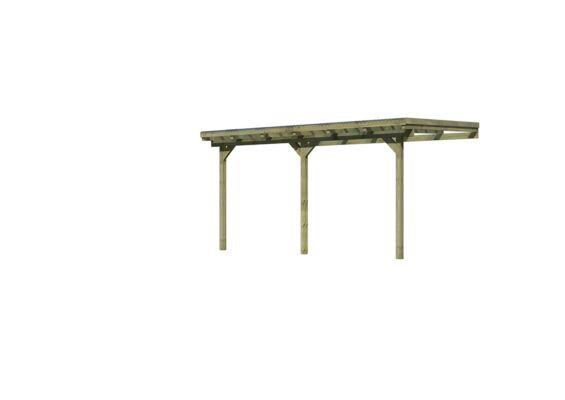 Karibu | Overkapping Model 2 | Grootte B | 433 x 303 x 243 cm | Hogedruk Geimpregneerd
