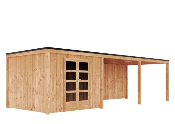 Duxwood | Tuinhuis Garden Design 120 | 300 x 300 cm met Luifel 600 cm | Douglas