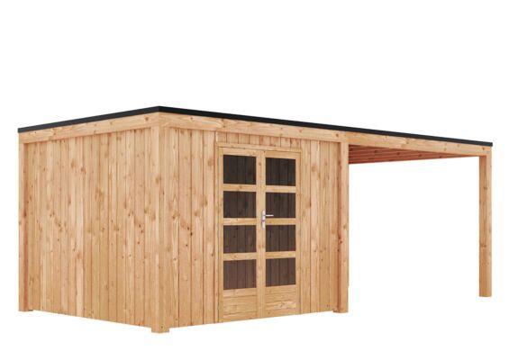 Duxwood | Tuinhuis Garden Design 120 | 300 x 300 cm met Luifel 350 cm | Douglas