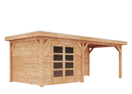 Duxwood | Tuinhuis Horn met Luifel 400 cm | Dubbele Deur