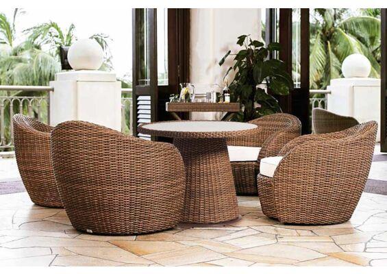 Lotus Lounge-Diningset | Tan Wicker Vlechtwerk | Artie Garden Tuinmeubelen