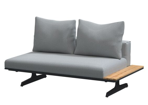 4 Seasons Outdoor | Endless Loungebank/Chaise Longue | Antraciet