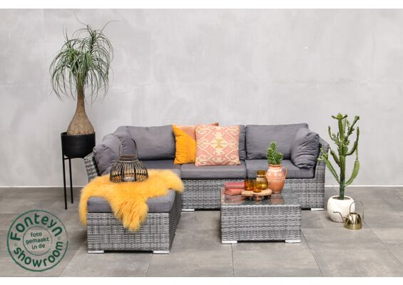Fonteyn | Loungeset Palermo | Dark Grey