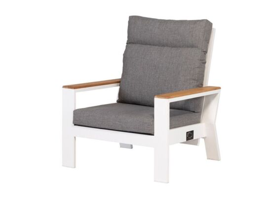 Exotan | Verstelbare Loungestoel Valerie | White