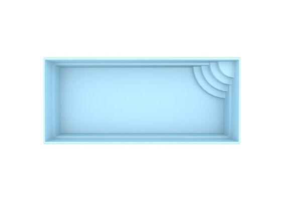 Fonteyn | Polyester Zwembad Marseille 700 x 350 x 150 cm