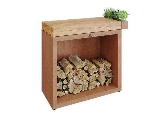 OFYR   Butcher Block Storage 90   Corten - Teak Wood