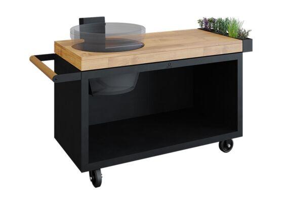 OFYR   Kamado Table PRO   Black - Teak Wood   KJ