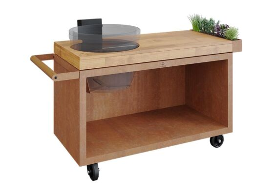 OFYR   Kamado Table PRO   Corten - Teak Wood   KJ