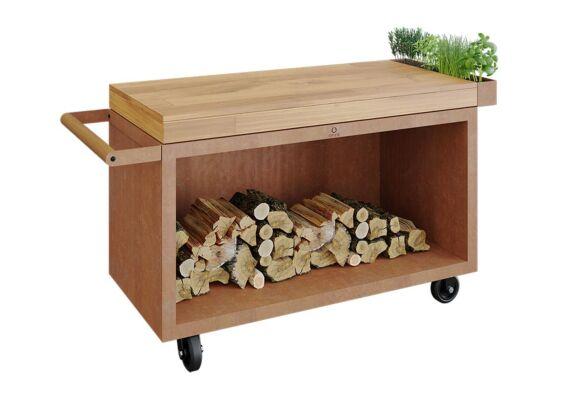 OFYR   Mise en Place Table 135 PRO   Corten - Teak Wood