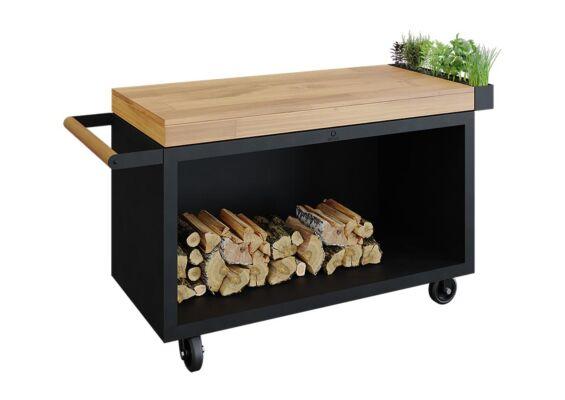OFYR   Mise en Place Table 135 PRO   Black - Teak Wood