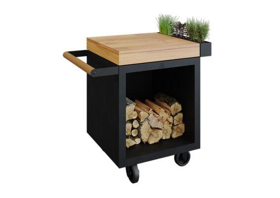 OFYR | Mise en Place Table 65 PRO | Black - Teak Wood