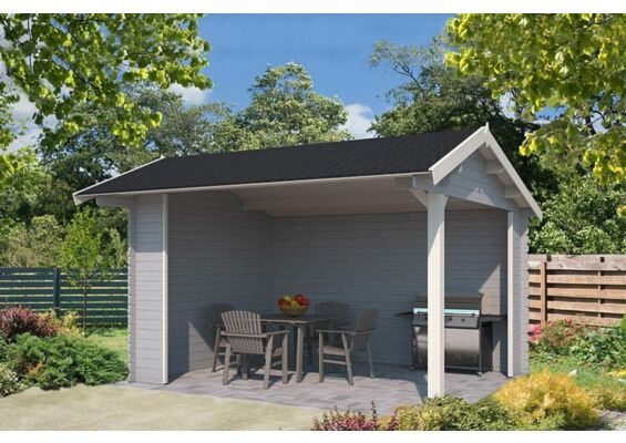 Outdoor Life Products | Tuinhuis Kirian Gecoat | Platinum Grey