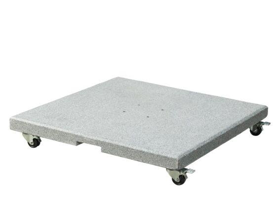 Platinum | Parasolvoet Salerno Graniet met Wielen | 90 kg