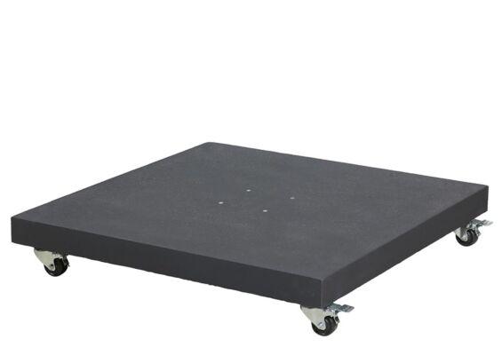 Platinum | Parasolvoet Sorrento Graniet met Wielen | 90 kg