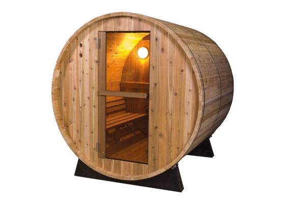 Barrel Sauna | Fonteyn Rustic 6 Ft. | Buitensauna | Red Cedar | Uniek design