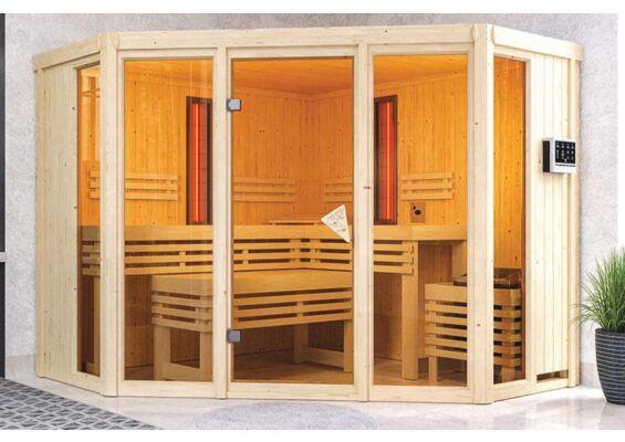 Karibu   Sauna Asta   Biokachel 9 kW Externe Bediening