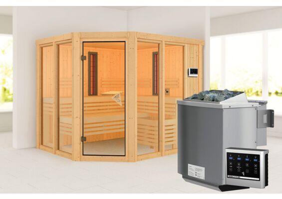 Karibu   Sauna Ava   Biokachel 9 kW Externe Bediening