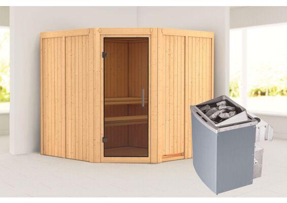 Karibu | Sauna Jarin | Antracietglas | Kachel 9 kW Geïntegreerde Bediening