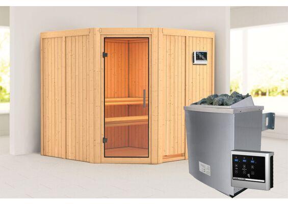 Karibu | Sauna Jarin | Helderglas | Kachel 9 kW Externe Bediening