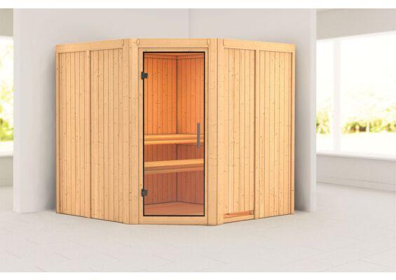 Karibu | Sauna Jarin | Helderglas | Kachel 9 kW Geïntegreerde Bediening