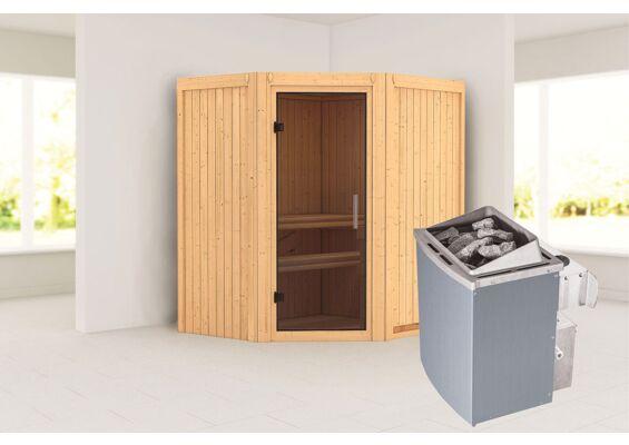 Karibu   Sauna Taurin   Antracietglas   Kachel 4,5 kW Geïntegreerde Bediening