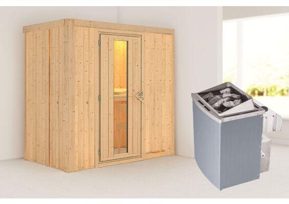 Karibu   Sauna Variado   Energiesparend   Kachel 4,5 kW Externe Bediening