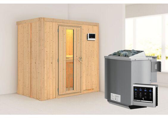 Karibu   Sauna Variado   Energiesparend   Biokachel 4,5 kW Externe Bediening