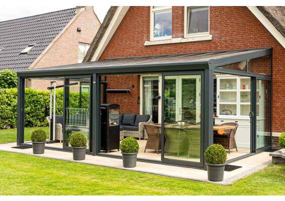 Aluxe Topline veranda met glas 5000x2000