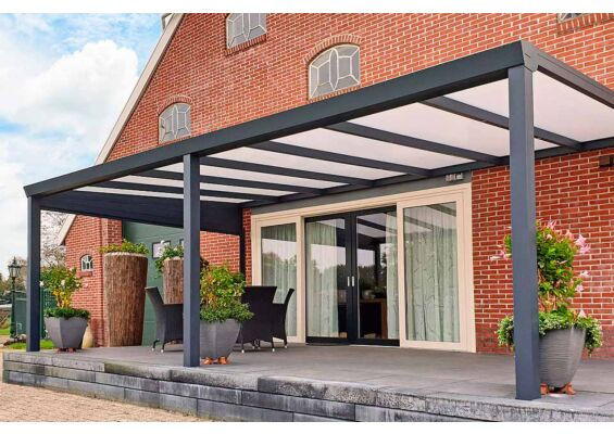 Aluxe Trendline veranda met glas 3000x3000