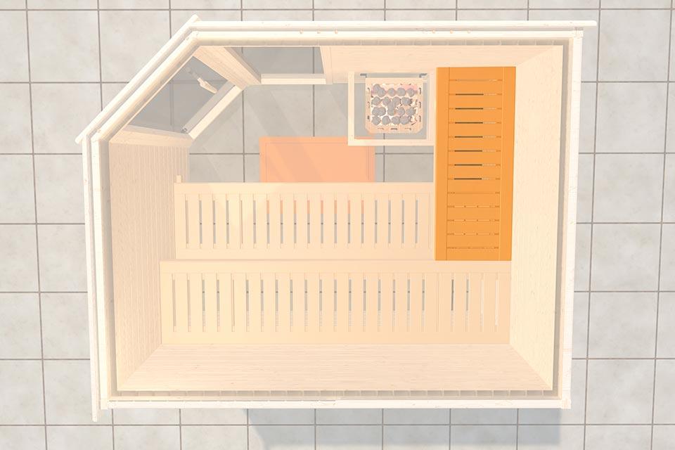 Weka | Saunabank Voor Saunadiepte 177-181 cm
