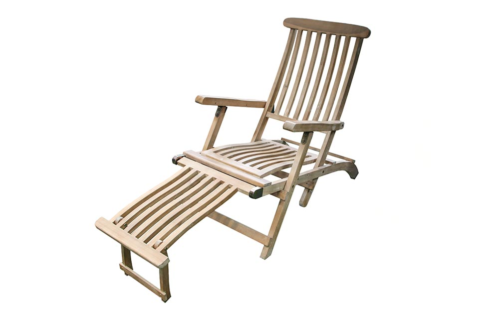 Fonteyn | Deckchair Classic Acacia | Light Teak Look