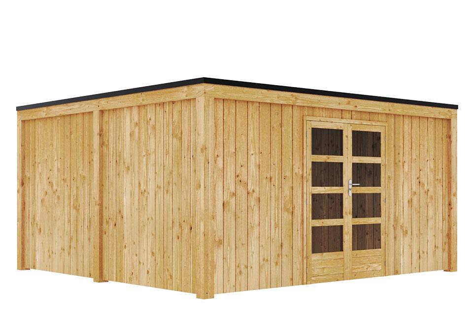 Duxwood | Tuinhuis Garden Design 140 | 450 x 450 cm | Vuren