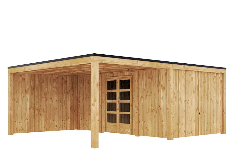 Duxwood   Tuinhuis Garden Design 140   500 x 300 cm met Luifel 300 cm   Vuren