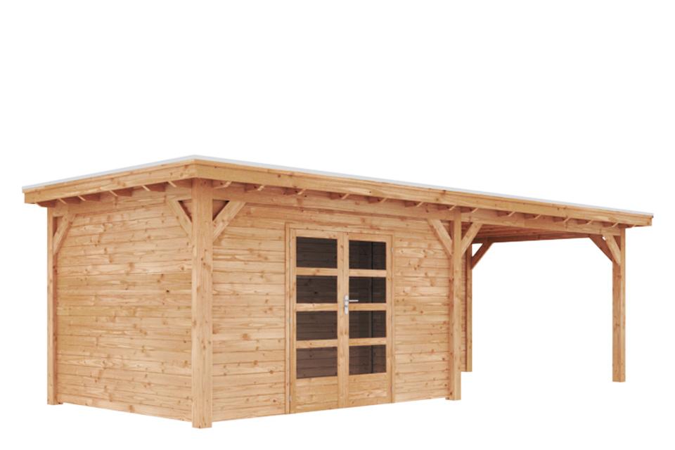 Duxwood | Tuinhuis Kaprun met Luifel 400 cm | Dubbele Deur