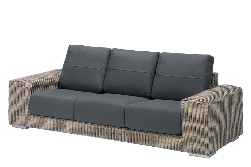 4 Seasons Outdoor | Loungebank Kingston 3-zits | Pure