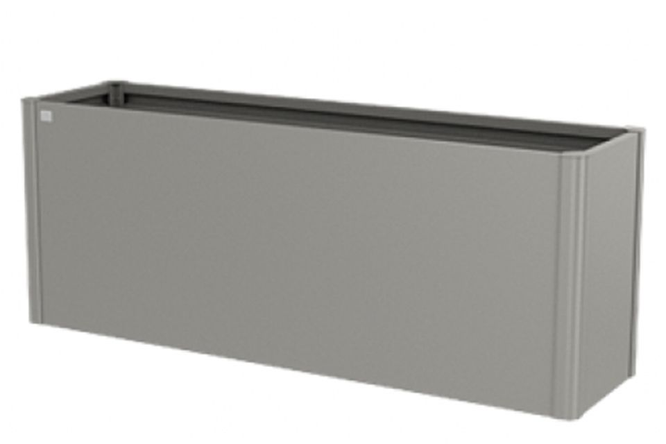 Biohort | Moestuinbox Gr. 2 x 0,5 | Kwartsgrijs-Metallic