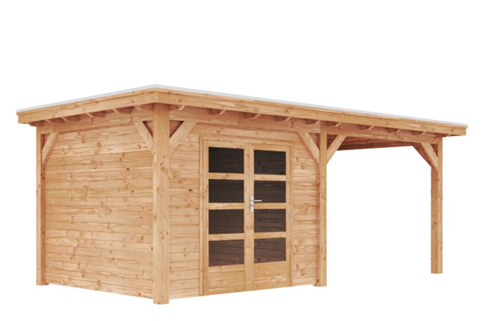 Duxwood | Tuinhuis Lech met Luifel 300 cm | Dubbele Deur