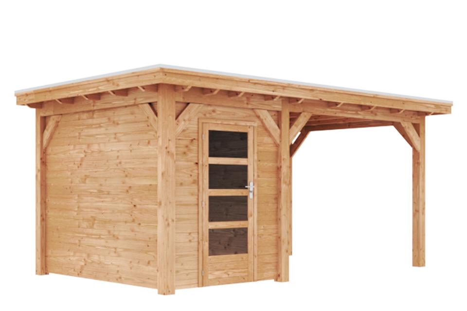 Duxwood | Tuinhuis Lech met Luifel 300 cm | Enkele Deur