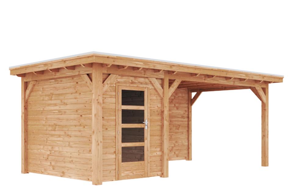 Duxwood | Tuinhuis Lech met Luifel 400 cm | Enkele Deur