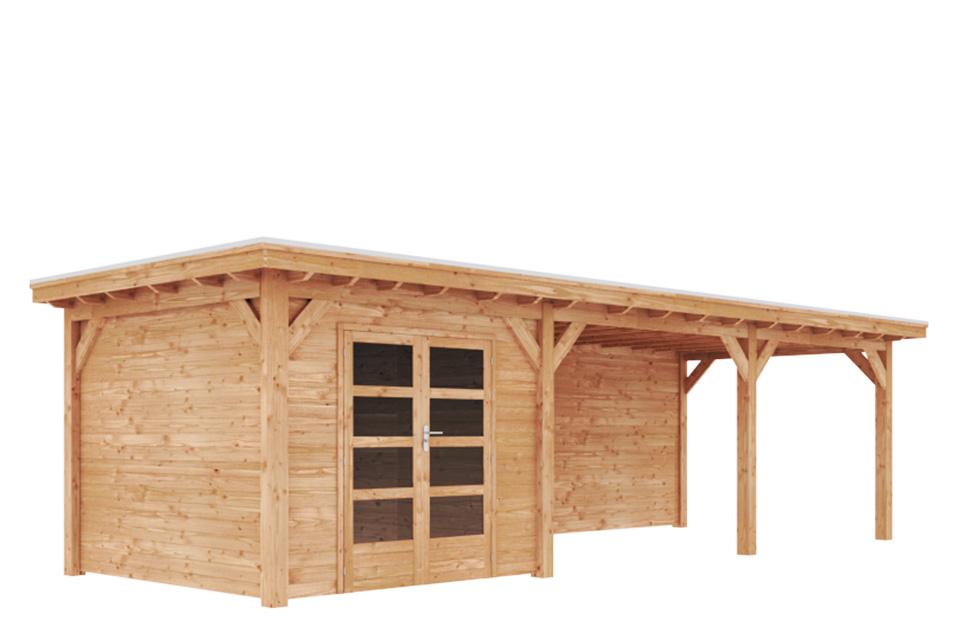 Duxwood | Tuinhuis Lech met Luifel 600 cm | Dubbele Deur