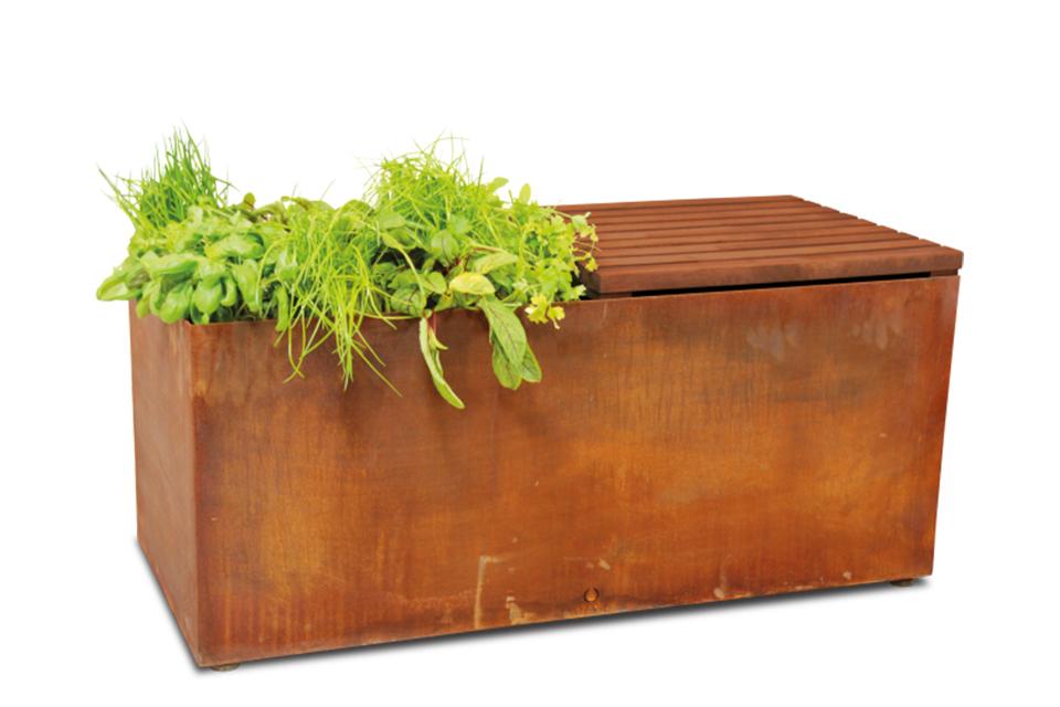 OFYR | Herb Garden Bench | Corten