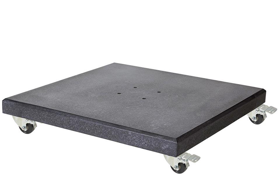 Platinum | Parasolvoet Modena XL Graniet met Wielen | 120 kg