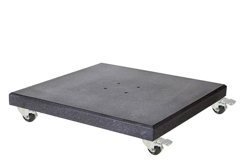 Platinum   Parasolvoet Modena Graniet met Wielen   90 kg